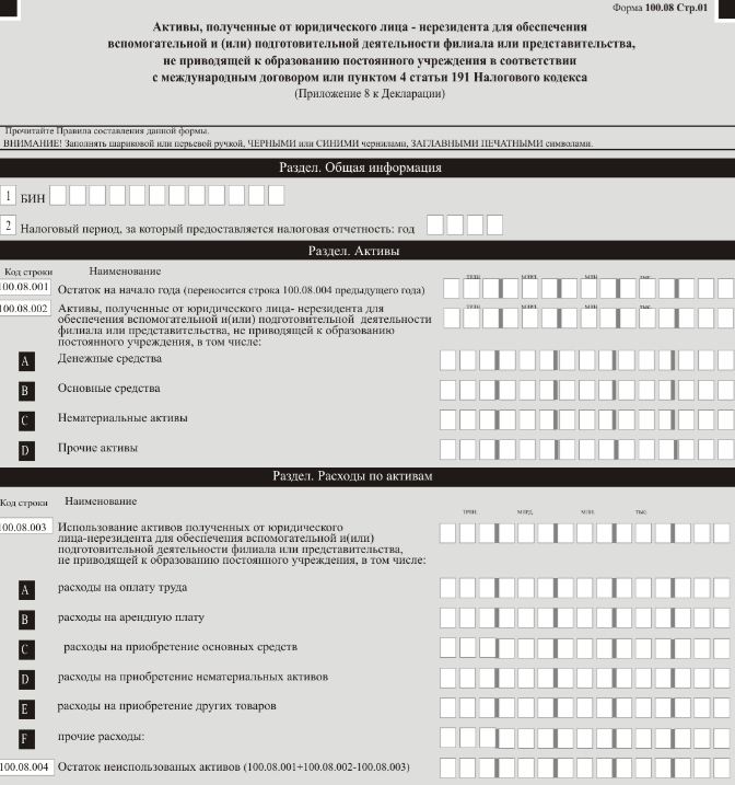 Инструкция по заполнению учетной формы 100 у 03